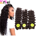 1PC+Free Shipping  Synthetic Deep Weave  6pcs/set Color1 1B 2 4 Synthetic Hair Weaves Deep Wave Hair Extensions Deep Curly Hair