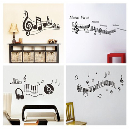 Newest 4 Design Note Music Spectrum Home Decal Wall Sticker Kids Room  Decoration Gifts Music Classroom Party Decor Stickers In Wall Stickers From  Home ...