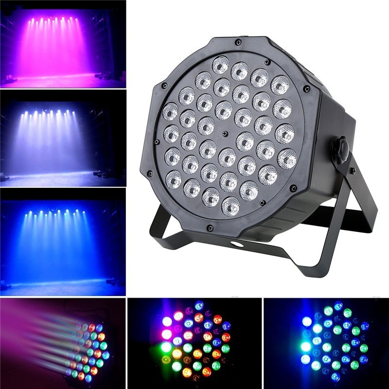 36 LED 108W Flat Par Light RGB DMX-512 Sound Actived Magic Effect Led Stage 110-220V Disco Club Party Light