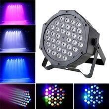 36 светодиодный 108 Вт плоским Пар света RGB DMX-512 звук Активизированный магический эффект светодиодный этап 110-220 В Disco клубные вечерние свет