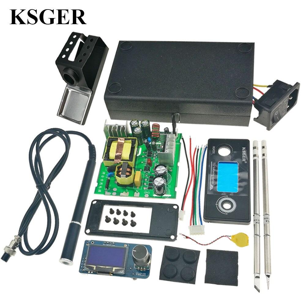 KSGER STM32 V2 1S T12 OLED Soldering Iron Station Tips Aluminum Alloy 9501 Handle Controller Welding