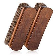 2 шт. щеточка для обуви из конского волоса, блестящие кисти, инструмент для выскабливания с конским волосом, щетина для сапог, обуви и других кожаных щеток