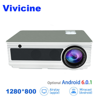 VIVICINE 1080p HD Projector,5500Lumens,Android 6.0 WiFi Bluetooth Optional,Perfect Home Theater LED TV Video Projector Beamer