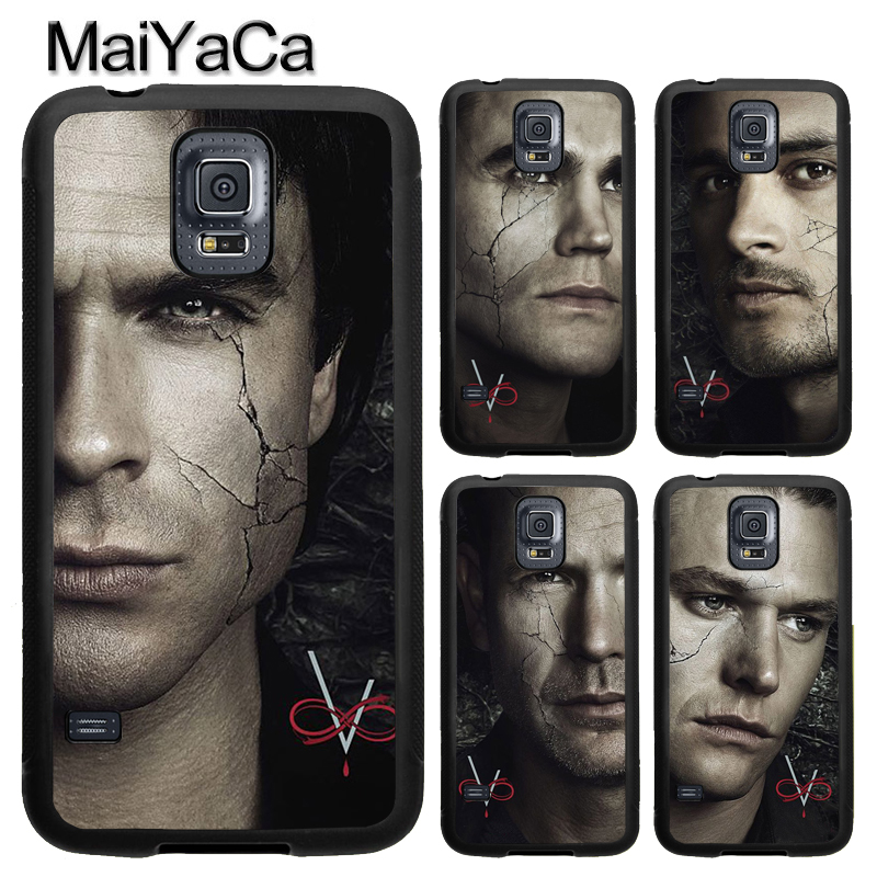 MaiYaCa THE VAMPIRE DIARIES Character Poster For Samsung S7 S4 S5 S6 edge S9 S8 Plus Note 8 Note 4 5 Phone Case Coque Protector