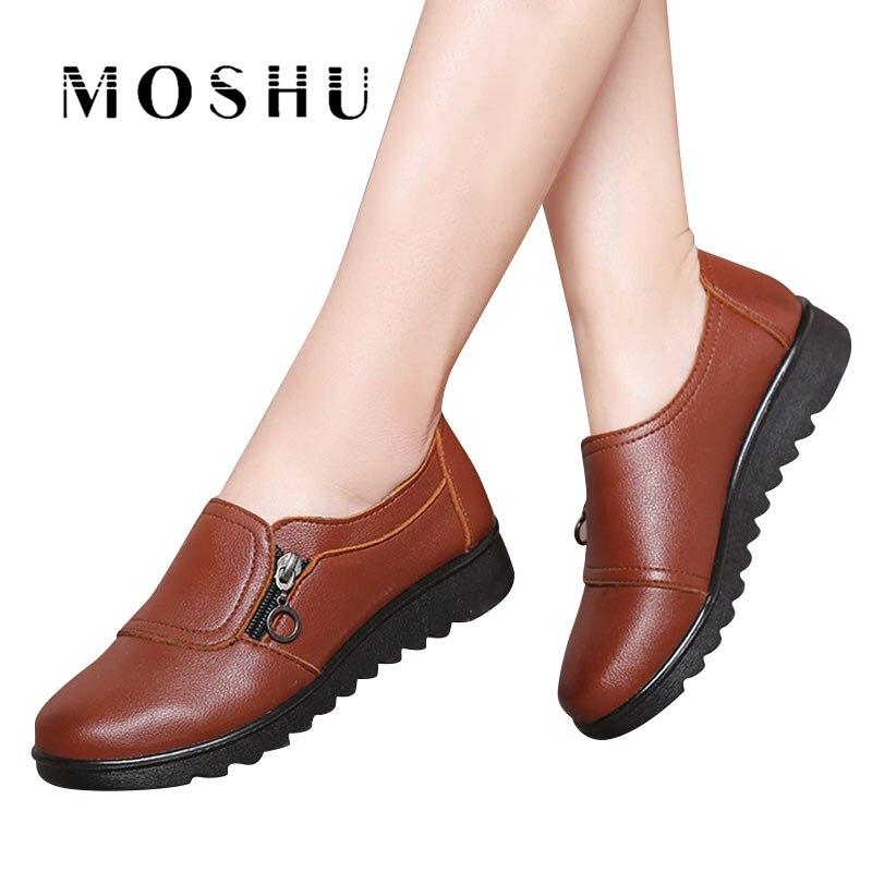 80f8e6163 Anti slip 41 Black Feminino red Deslizar Tamanho brown Mocassins Ballerines Sapatos  De Femme 35 Chaussure ...