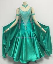 Standard Ballroom Dress Adult Top Quality Custom Made Sparkle Women Waltz Tango Ballroom Competition Dance Dresses
