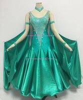Standard Ballroom Dress 100 New Sparkle Women Modern Waltz Tango Competition Dance Dress Ballroom Dancing Skirt