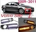 Car-styling, S80 daytime light,2009~2013,LED,Free ship!2pcs,car-detector,S80 fog light,car-covers,S80,XC 60