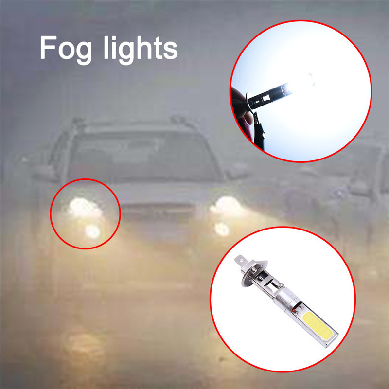 2pcs / lot Automotive LED svjetla za maglu COB Chip Light H1 velike - Svjetla automobila - Foto 2