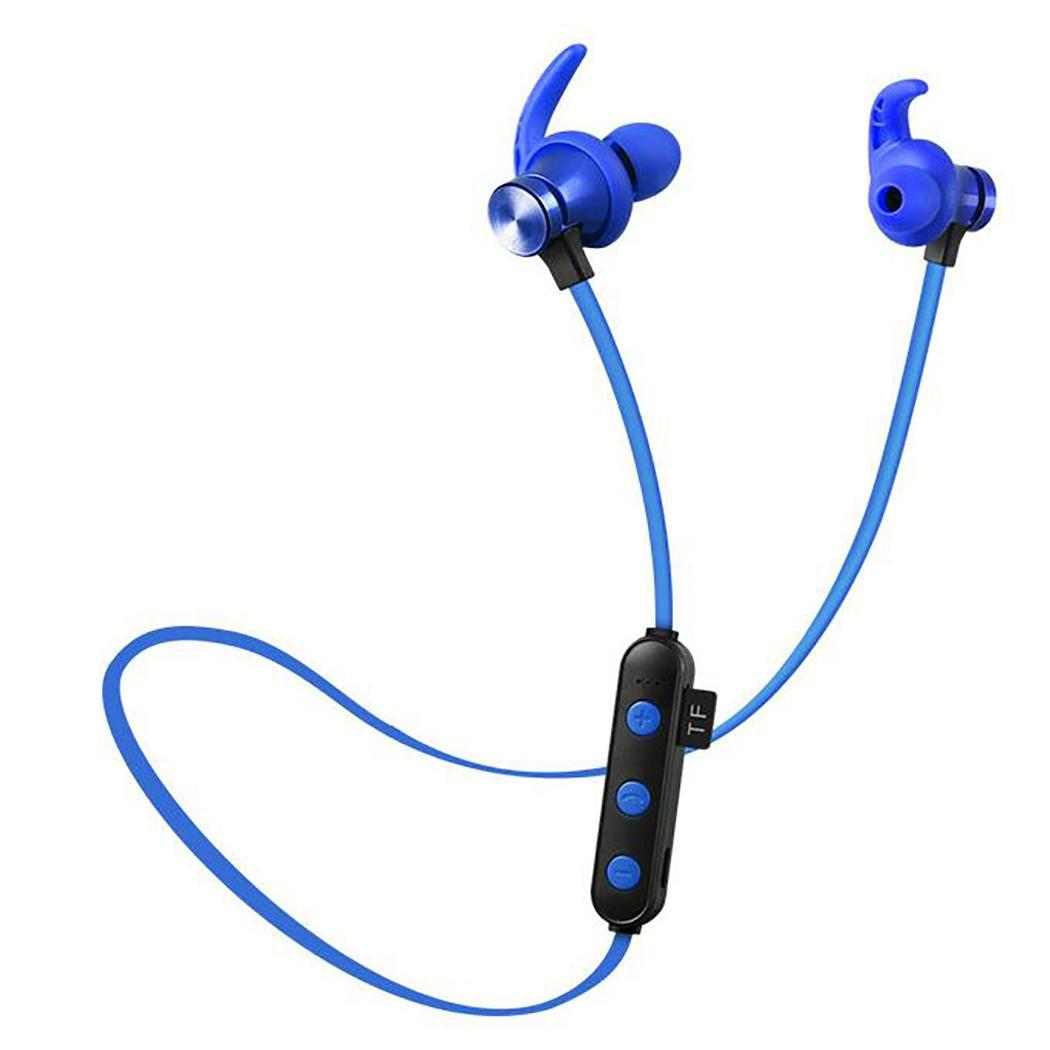 Sports Wireless Bluetooth Headset Bilateral Stereo Magnetic 75mAh All Supported Devices TF Card 160h Earphones