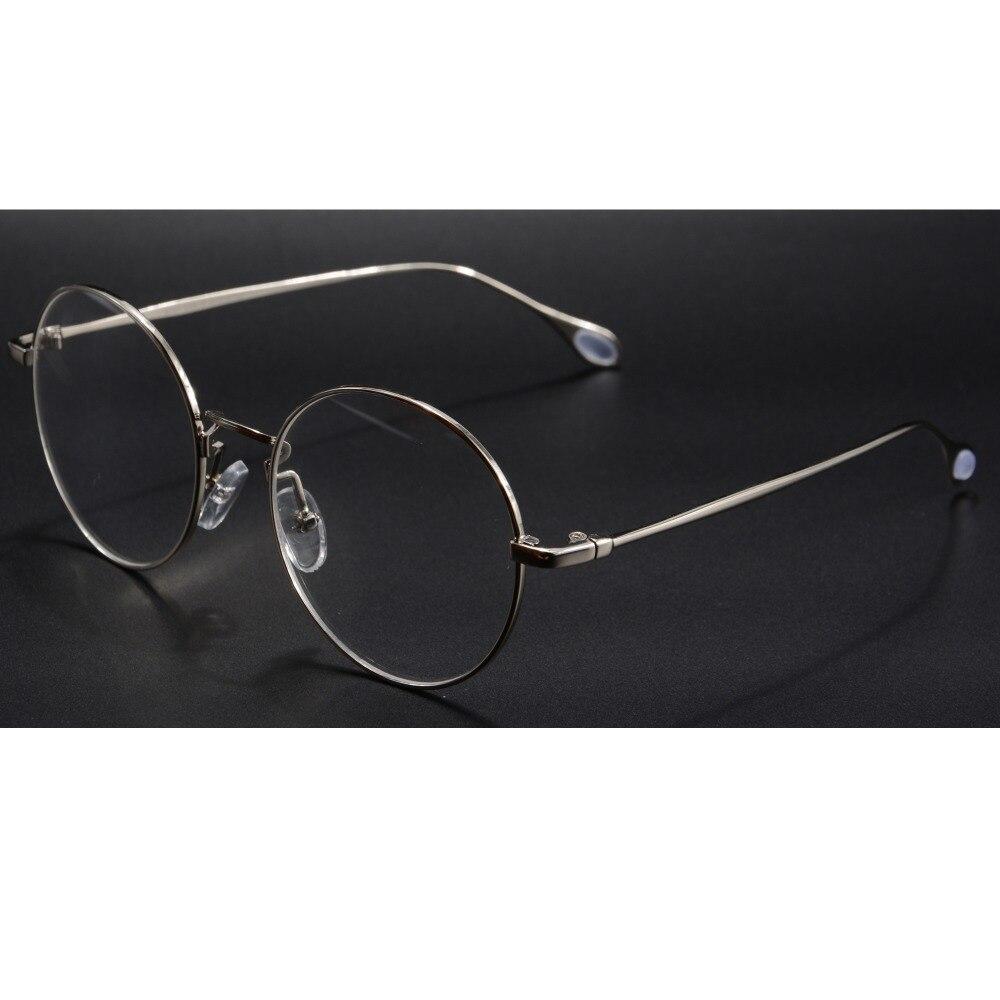 Runde metall brillen frames frauen brille männer runde gold ...