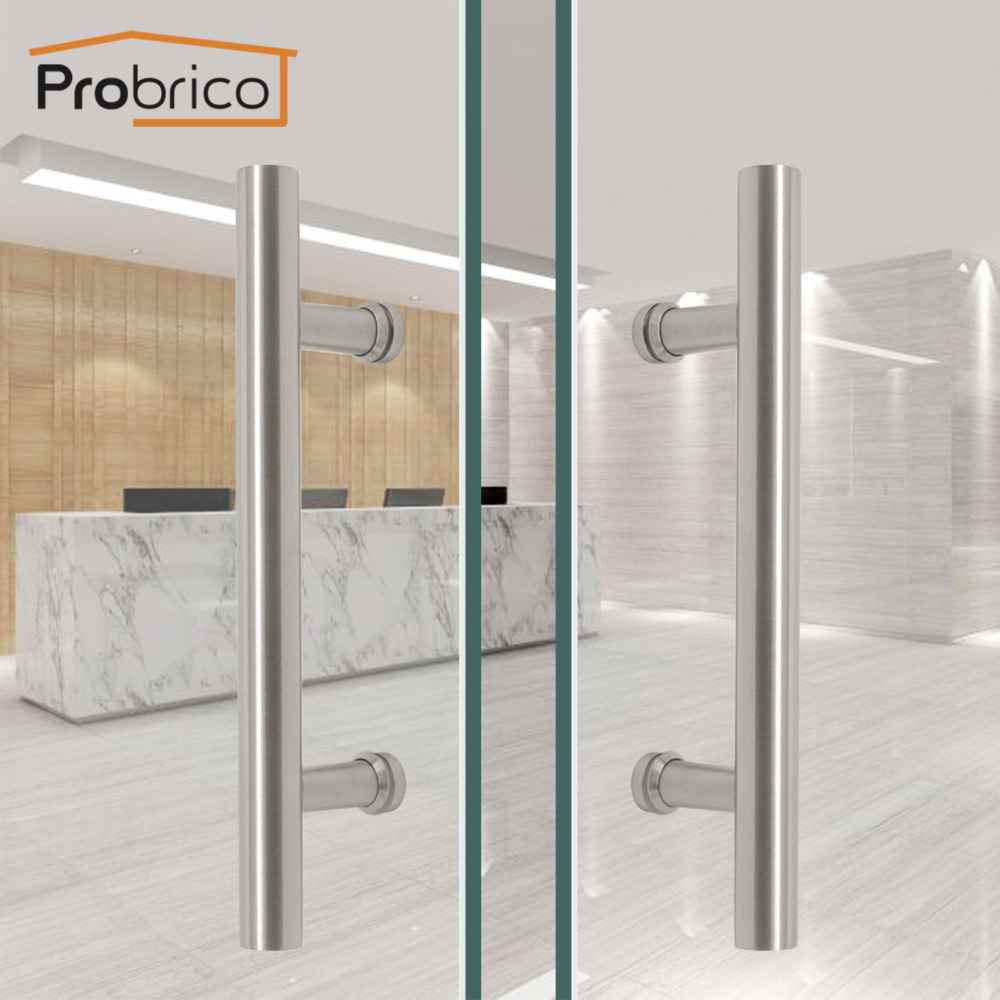 Probrico Grab T Bar Stainless Steel Hollow Large Door Handles Bookcase Cupboard Modern Wardrobe Furniture  Office Door PullsProbrico Grab T Bar Stainless Steel Hollow Large Door Handles Bookcase Cupboard Modern Wardrobe Furniture  Office Door Pulls