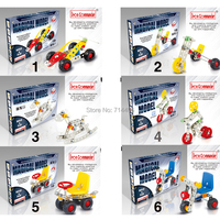Iron Commander Magical Scale Models 3D Building Blocks Kid Intelligent Educational Toys Mini Car Model 6