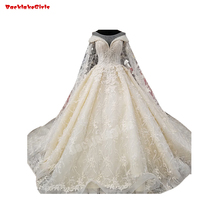 65656 Watteau Train Ivory White Bridal Gown Wedding Dress