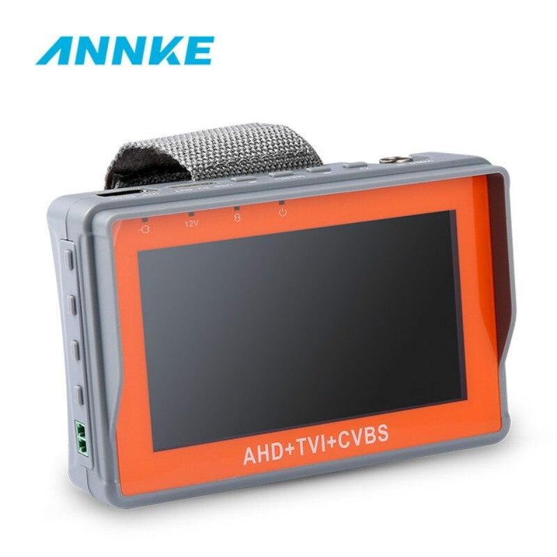 ANNKE 4.3 pouces HD AHD TVI Anlalog CVBS Moniteur de Testeur de VIDÉOSURVEILLANCE 1080 p Analogique Caméra PTZ Testeur De Câble UTP DC12V1A sortie