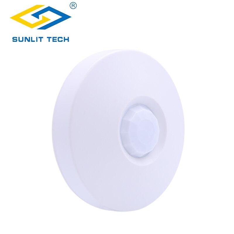 Dual Tech Ceiling Motion Sensor 360 Degree Microwave PIR Movement Detector Switch Alarm Sensor for Home Burglar Security system
