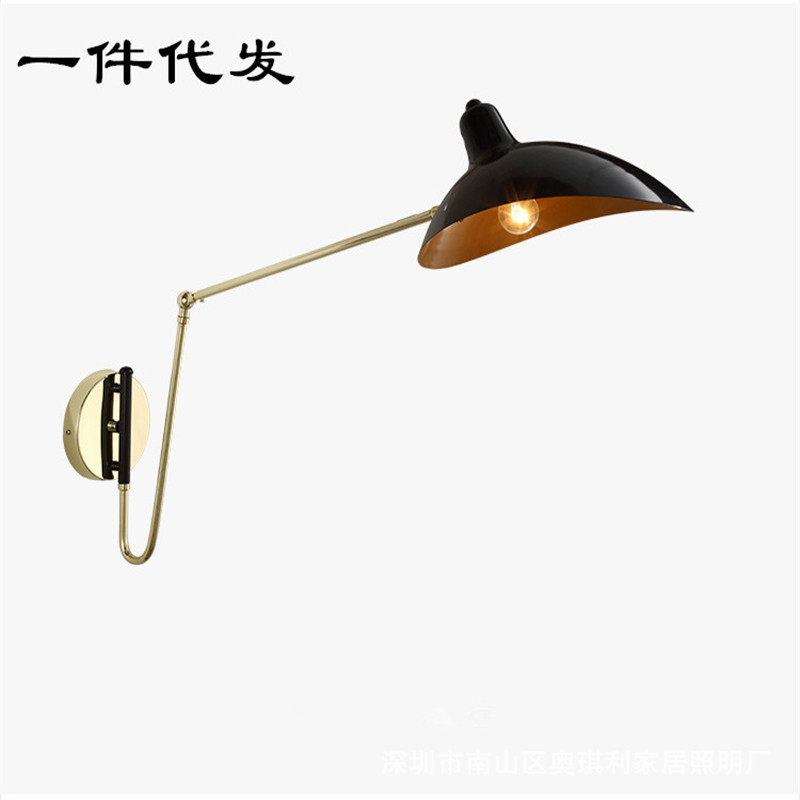Post modern personality gold ball pulley wall lamp restaurant bar living room bedroom wall lampPost modern personality gold ball pulley wall lamp restaurant bar living room bedroom wall lamp