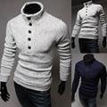 2015 новый бренд мода водолазка трикотажные мужские свитера пуловер slim-подходят свободного покроя верхняя одежда человек одежда M-XXL