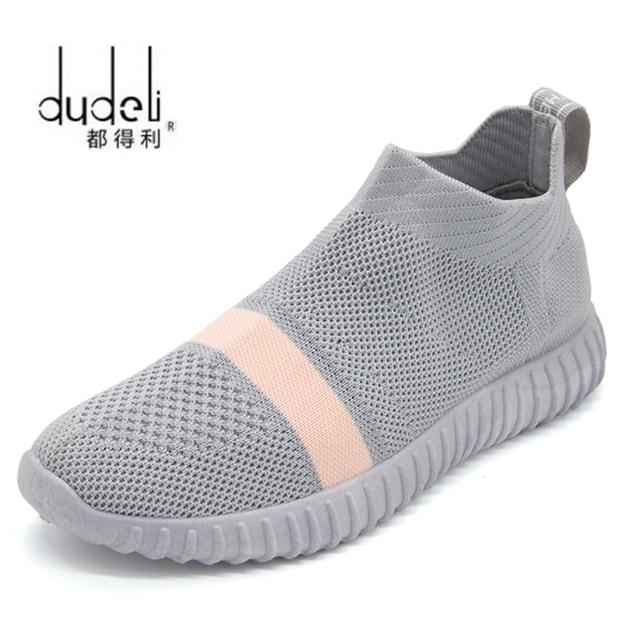 4da2434ae DUDELI Sock Women Running Shoes 2018 New Sport Shoes Sneakers Woman  Athletic Socks Breathable Walking Slip On Footwear Black Red