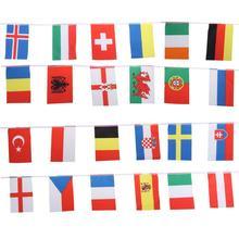 Висячие флажки с флагом Кубка Европы, 24 флага, баннеры с флагом, Международный флаг, Бантинг, Клубные украшения для бара