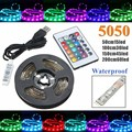 5050 SMD 50/100/150/200cm TV Background Lighting Kit USB RGB LED Strip Light Lamp Waterproof With 24 Keys IR Remote DC5V