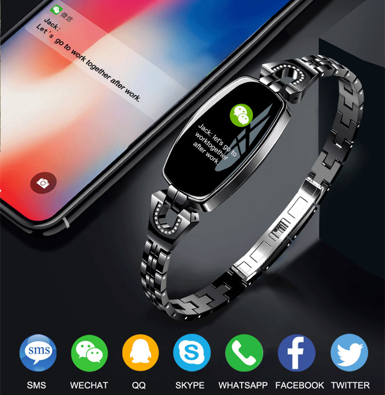 New Luxury H8 Intelligent Smart Wristwatch Waterproof Women Digital Smartwatch Ladies Heart Reat Pedometer For iPhone AndroidNew Luxury H8 Intelligent Smart Wristwatch Waterproof Women Digital Smartwatch Ladies Heart Reat Pedometer For iPhone Android
