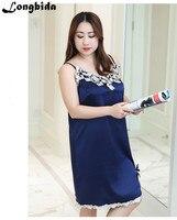 Summer Women Lace Elegant Evening Party Formal Dress Office Large Size Fantaist Sleeveless V Neck Natural