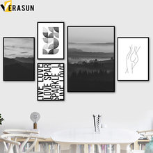 Landscape Mountain Sexy Women Body Quote Wall Art Canvas Painting Nordic Posters And Prints Wall Pictures For Living Room Decor(China)