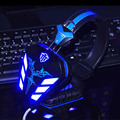 Cosonic LED Gaming Headphone USB + 3.5mm Gaming Headset Headband Earphone with Microphone Noise Canceling LED Light for PC Gamer