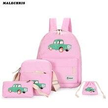 Женские рюкзаки ноутбук рюкзак портфели для подростков родитель-ребенок четыре сумки Девушки Холст мультфильм шаблон школьная сумка