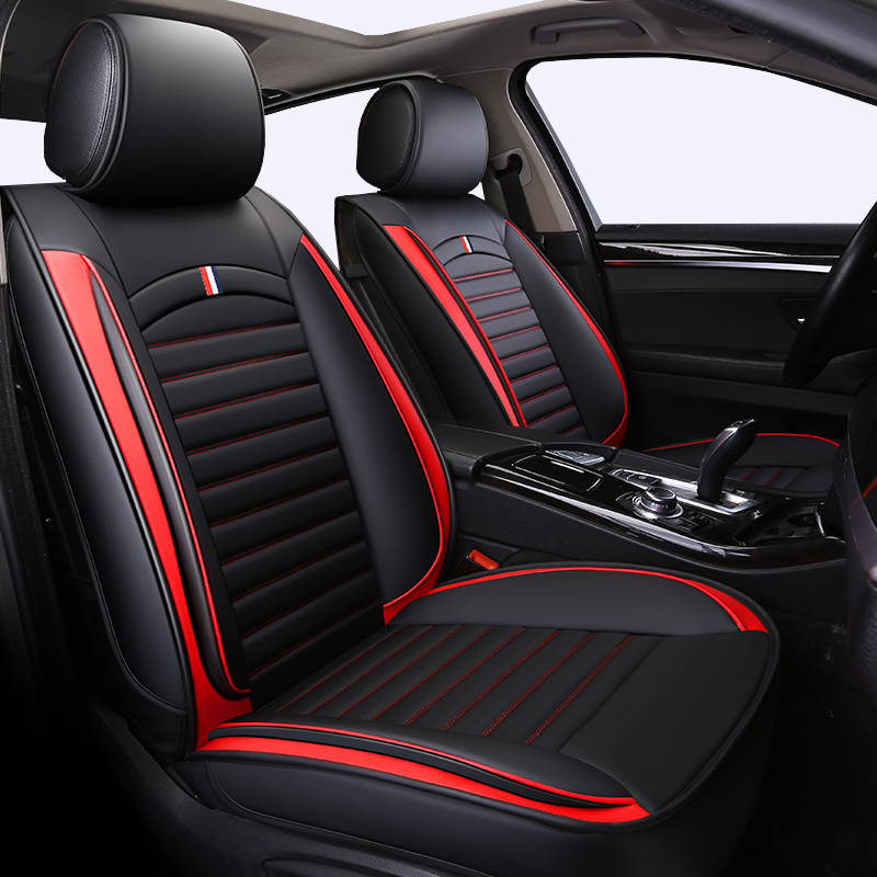 Front+Rear PU Leather Universal auto seat covers fit Renault Duster Scenic Clio Megane Laguna Espace Sandero car seat cover Car|Automobiles Seat Covers| |  - title=