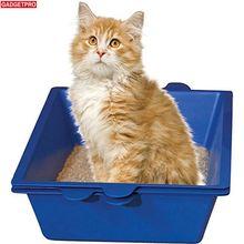 Gadgetpro Лотки для кошек полу закрытые анти-всплеск кошачий Туалет животное кошачьих туалетов коробка Пластик судно кота bedpans для Товары для кошек Инструменты для яиц