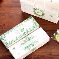 10/20 pièces merci Biscuits boîte à bonbons feuilles vertes papier boîte cadeau sac de mariage cadeau emballage sac fournitures de fête d'anniversaire