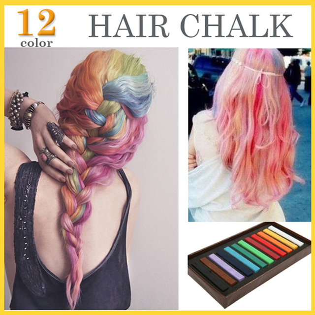 New 12 Color Hair Chalk Set Soft Crayons Mungyo Chalk Pastels Easy