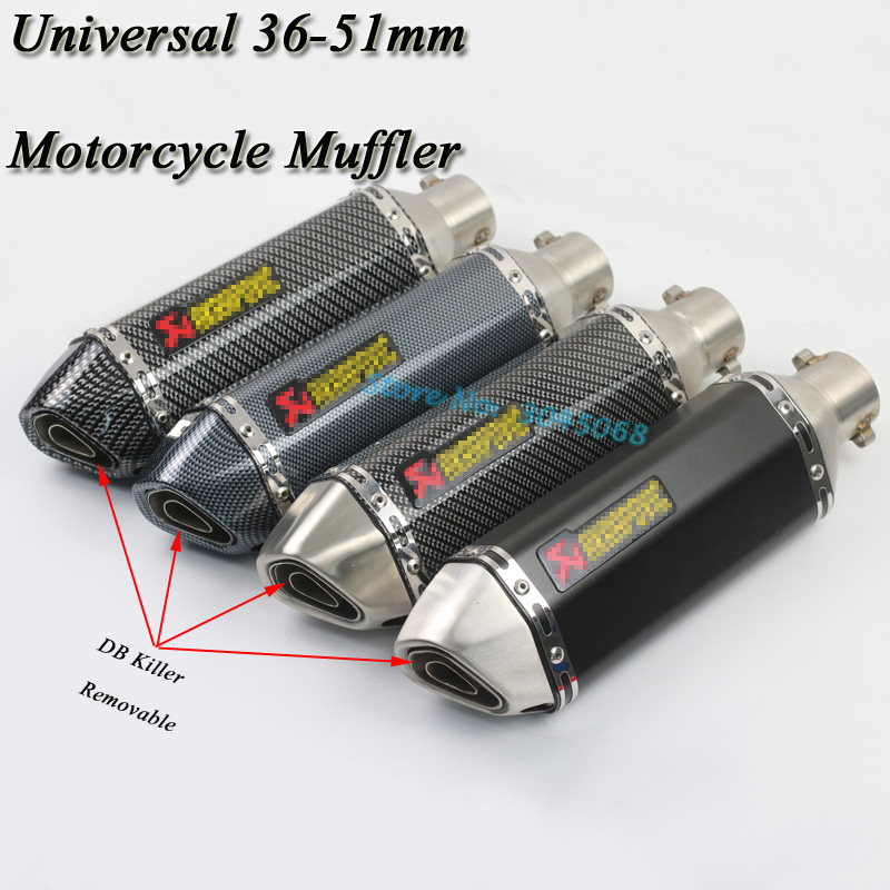Universal 36-51mm Moto D'échappement Escape Modifié Scooter Moufle Pour CB400 Ninja250 Z750 R6 GSXR600 R25 R3 ATV avec DB Killer