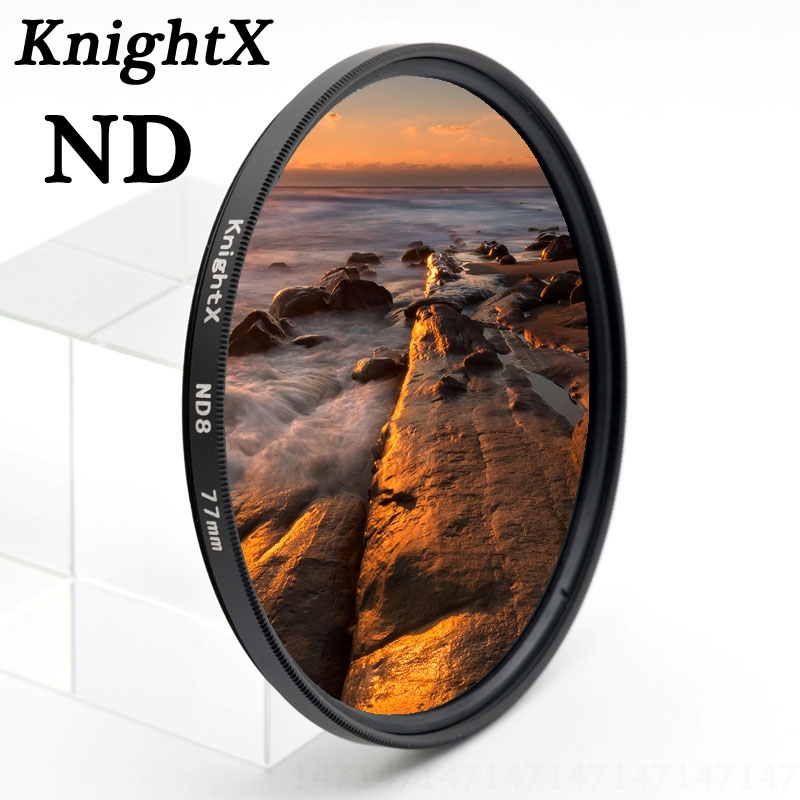"""KnightX Full ND ND16"" spalvinis filtras ""Sony Nikon"" kanonui ""Canon EOS Rebel T3i 60D 7D D3200 D5100 D5200 D3100"" D5300 D3300 D5500"