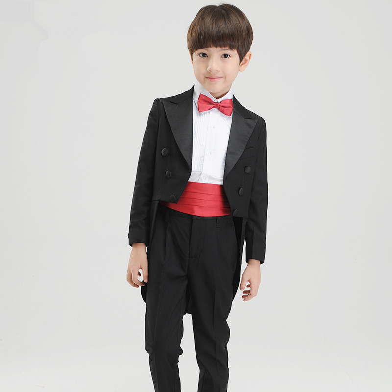 2018 new fashion baby boys kids children tuxedos suits boy suit for weddings formal black host tuxedo dress wedding boy suit swarovski octea nova 5295349