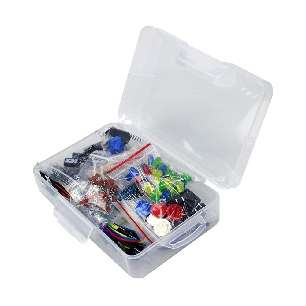 Starter Kit per arduino Resistenza/LED/Condensatore/Ponticelli/Tagliere resistenza Kit con la Scatola Al MinutoStarter Kit per arduino Resistenza/LED/Condensatore/Ponticelli/Tagliere resistenza Kit con la Scatola Al Minuto
