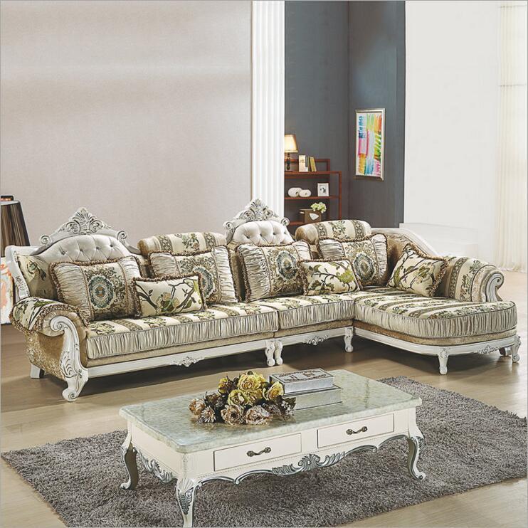 living room furniture modern fabric sofa European sectional sofa set a1264