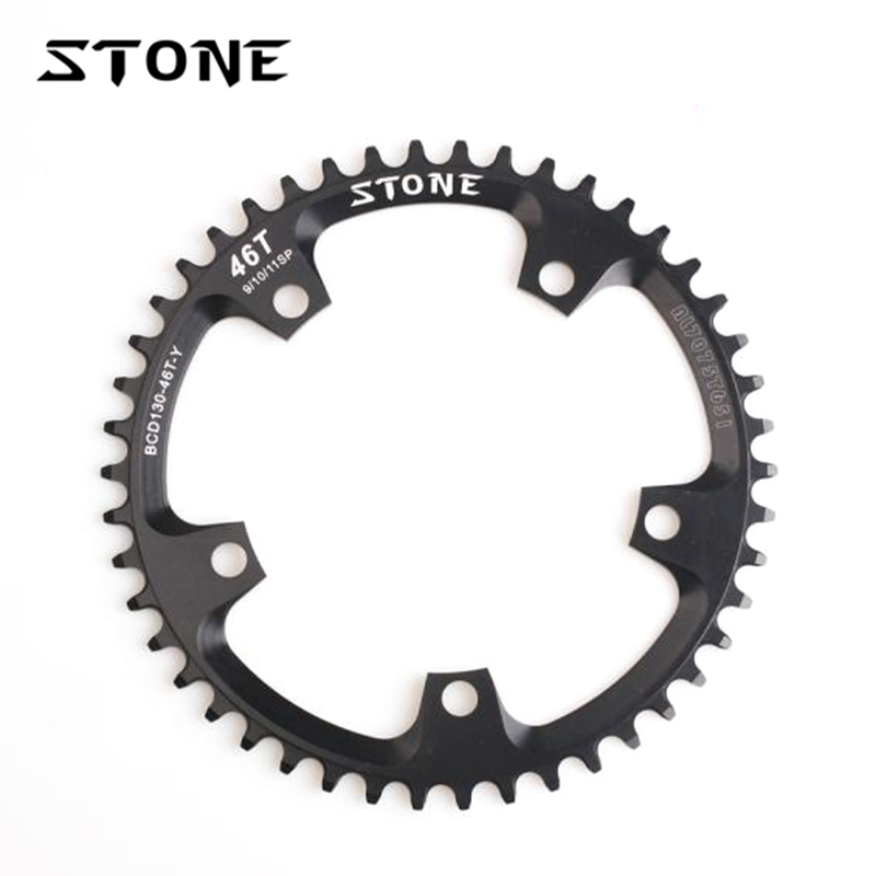 Stone Road Bike CX Cyclocross Round Chainring BCD 130mm 5 Bolts For FNHON Folding Bike Chainwheel