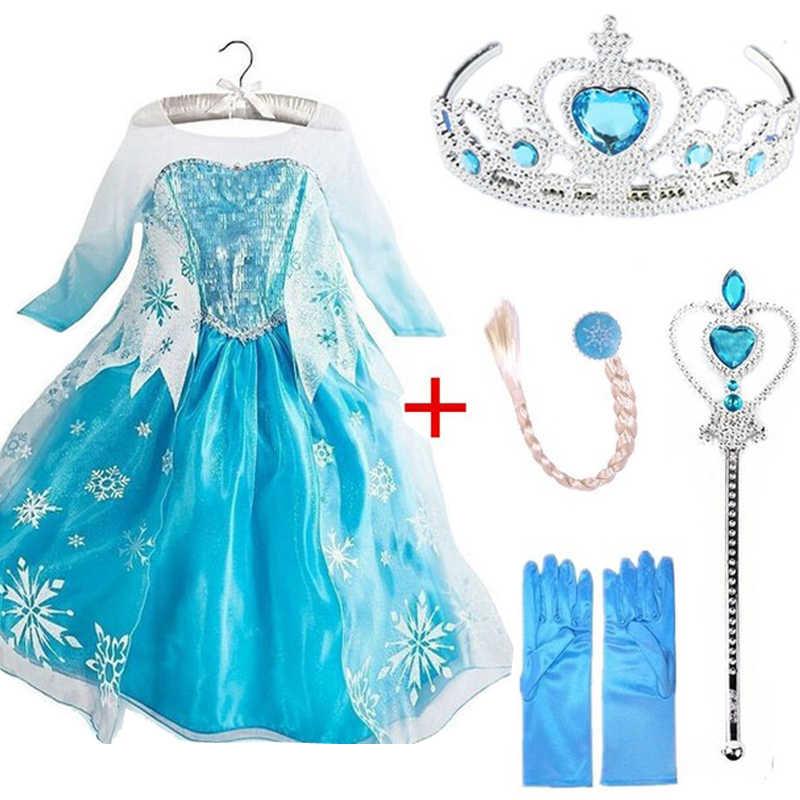 2019 маскарадные платья Снежной королевы и Эльзы для девочек, одежда, платье Анны и Эльзы для девочек, костюмы принцессы для дня рождения, одежда для детей