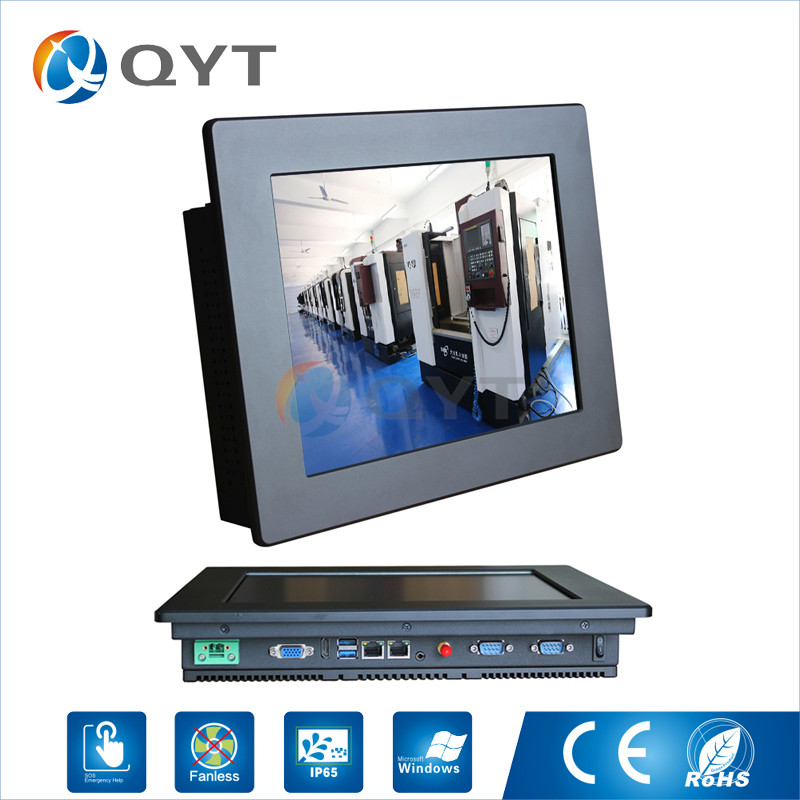 Embedded Installation 12 Inch Industrial Touch Panel PC Intel j1900 2.0GHz 2GB RAM 32GB SSD 2xRJ45 2xRS232 1xHDMI 800x600