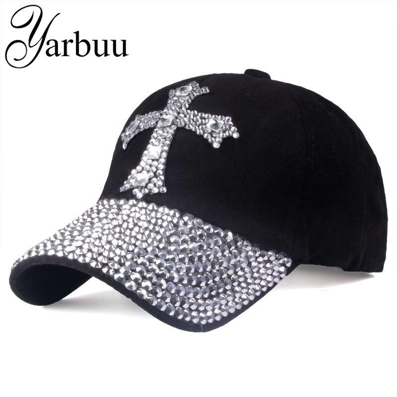 [YARBUU]   Baseball     cap   For men & women 2017 new fashion sun hat The adjustable 100% cotton rhinestone   cap   hat Free shipping