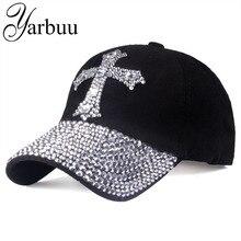 [YARBUU] gorra de béisbol para hombres y mujeres 2019 nuevo sombrero de Sol de moda la gorra ajustable de diamantes de imitación de algodón 100% sombrero envío gratis