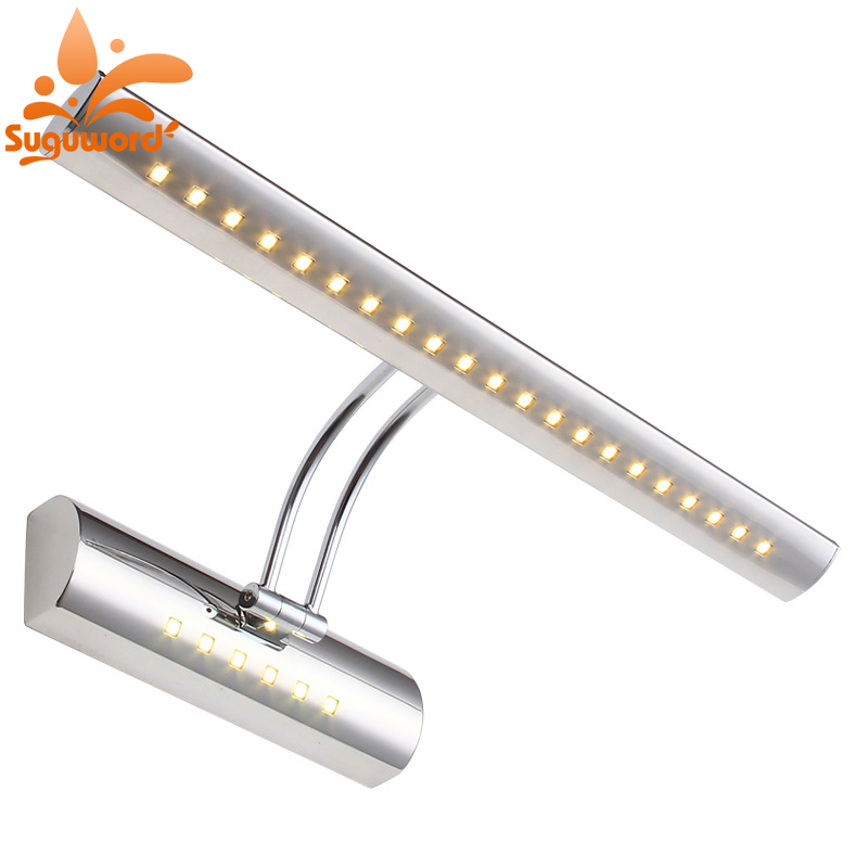 Wall Lamp Bathroom Led Mirror Light 5W 40cm AC 220V 240V 110V Wall Sconces Light With Switch Indoor Reading Lighting traditional classic metal silvery electroplating led bathroom mirror light led wall lamps light wall sconces 1 light ac