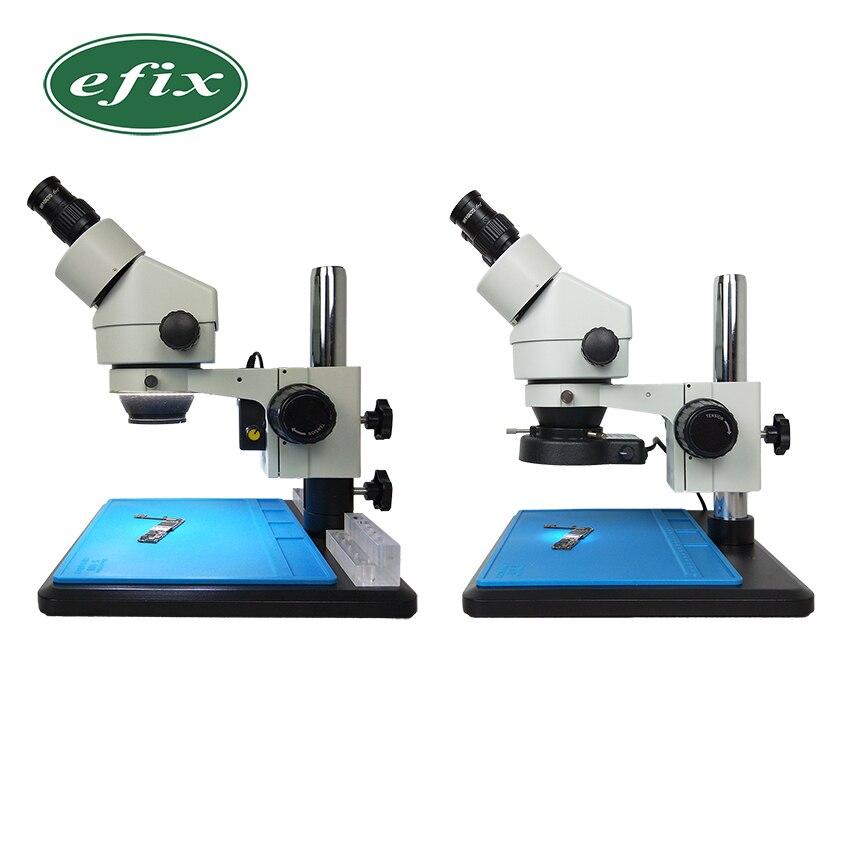 Efix 7 ~ 45x Simul-Focale Continuo Zoom Binoculare Stereo Saldatura Microscopio Banco di Lavoro Strumento di Riparazione Del Telefono Mobile