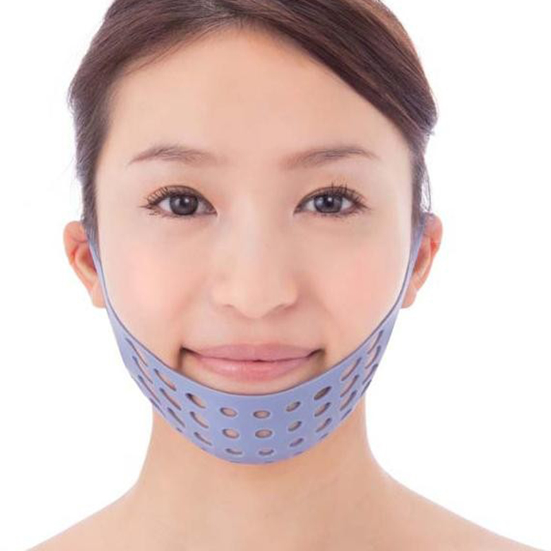 Silicone Face Shaping Belt font b Health b font Care Face Mask Facial Slimming Bandage Burning