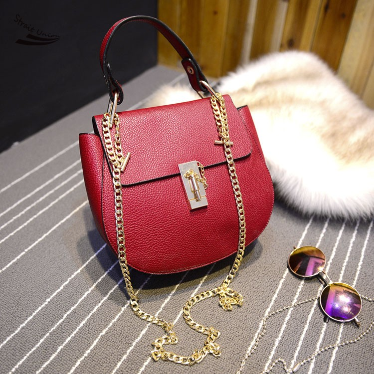 HOT!!!! Women Handbag Special Offer PU Leather bags women messenger bag/Vintage Shoulder Crossbody Bags Chain Handbag 52