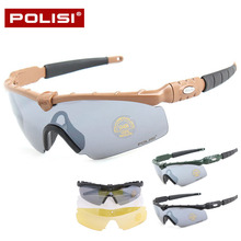 Professional HD Cycling Glasses Men Women's Outdoor Sports Bike Bicycle Glasses Windproof Riding Eyewear Sunglasses 3 Lenses