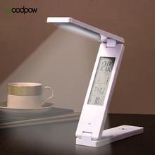 Woodpow LED USB 5V lampada da tavolo pieghevole lampada da scrivania ricaricabile calendario sveglia lampada per libri protezione degli occhi lampada per lapprendimento portatile